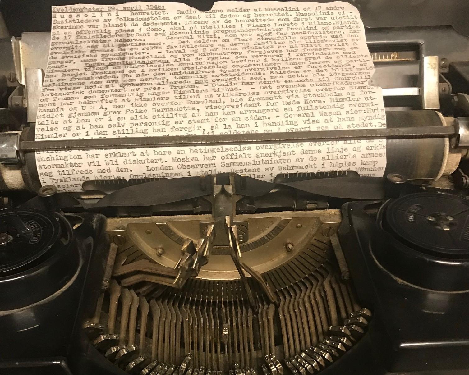 Skrivemaskin Liggende